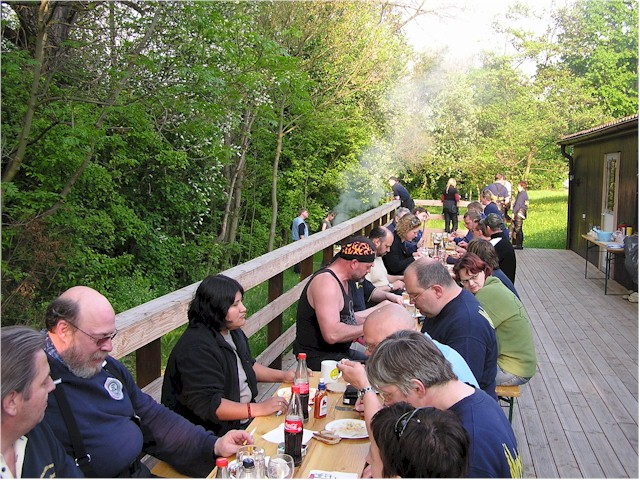 Grillparty im Clubheim
